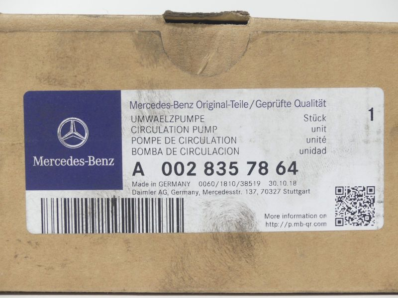 Wasserpumpe Umwälzpumpe A0028357864 Mercedes Benz